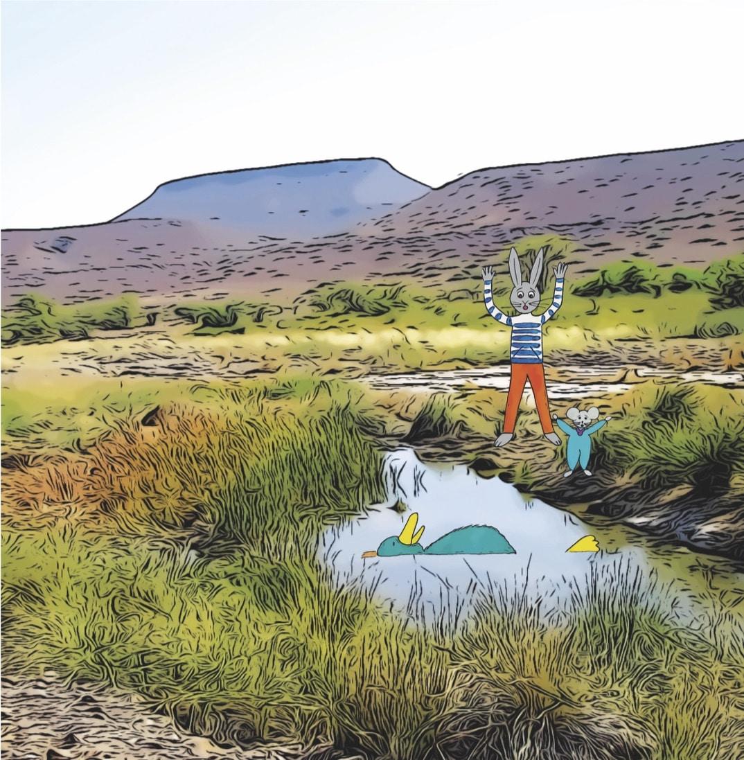 Extrait du livre pour enfants et jeunesse Chasseurs de pierres en Namibie