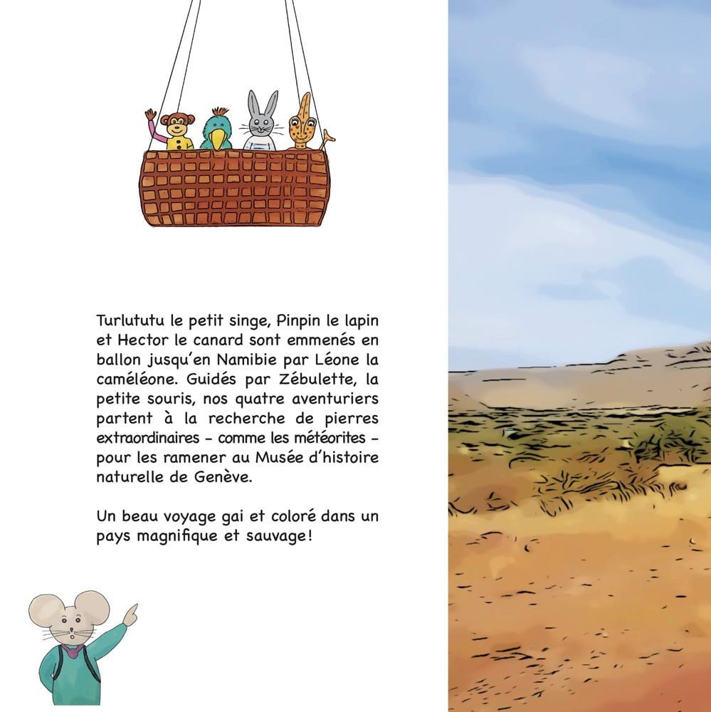 Photo du 4ème de couverture contenant le résumé du livre Chasseurs de pierres en Namibie