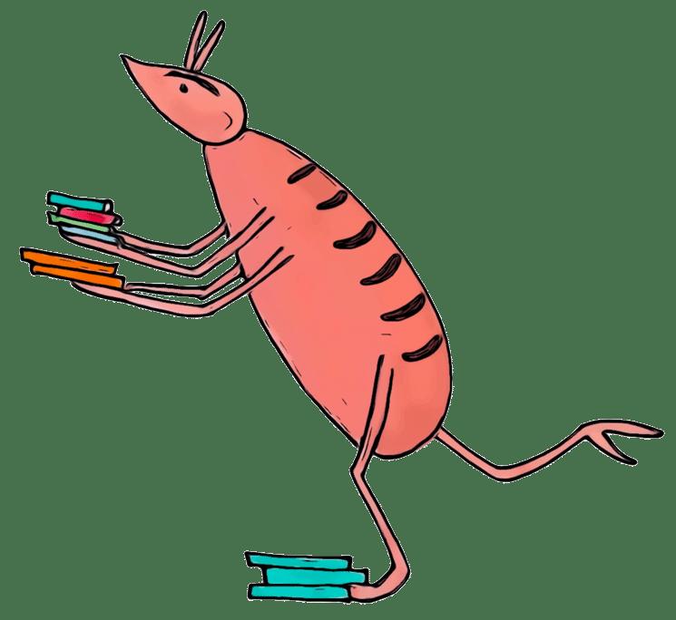 Dessin d'un pou du livre jeunesse Des Chameaux et de poux