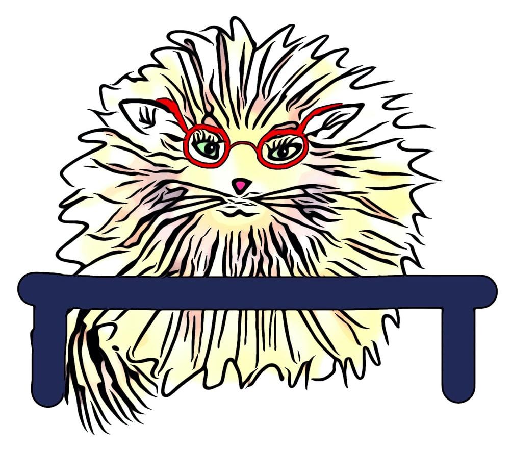 Dessin du chat Chaboulette pour les fiches pédagogiques pour les enseignants