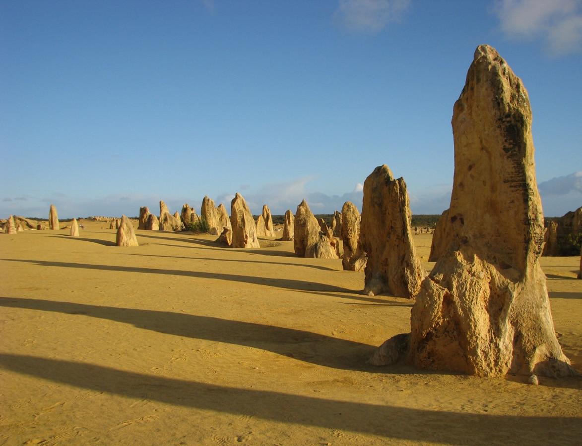 Photo d'un paysage, les pinacles, lors d'un voyage en Australie pour le livre Chasseurs de pierres en Australie