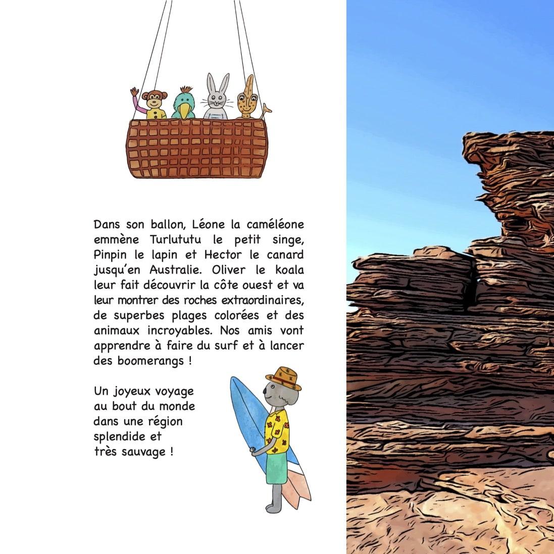 Photo du 4ème de couverture contenant le résumé du livre Chasseurs de pierres en Australie