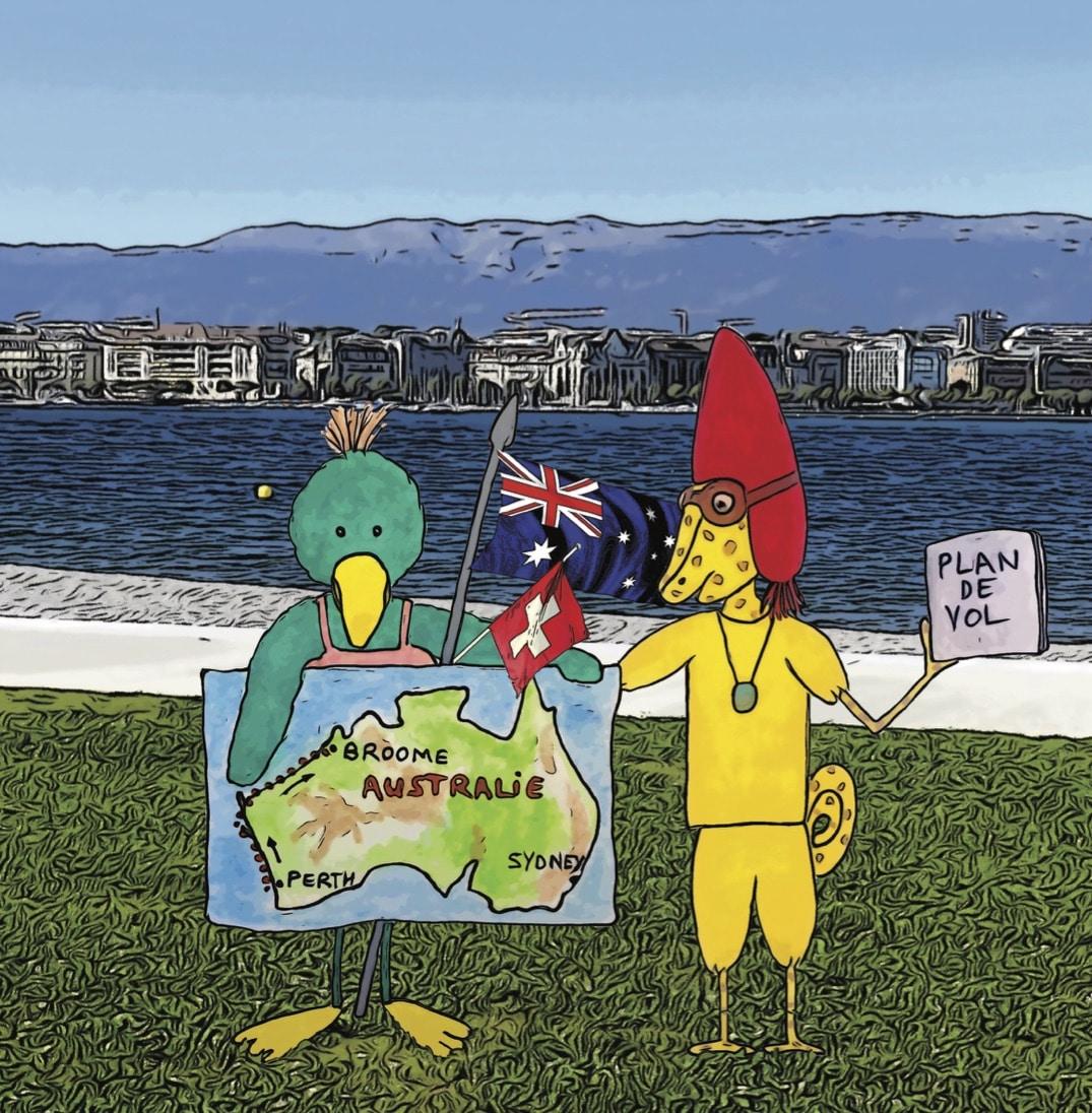 Extrait du livre pour enfants et jeunesse Chasseurs de pierres en Australie