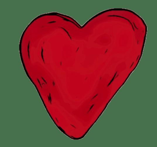Un coeur pour mettre ses livres préférés en réserve